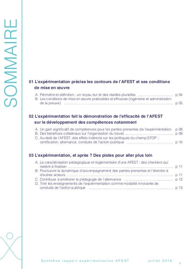 Rapport AFEST (synthèse)  Slide 3