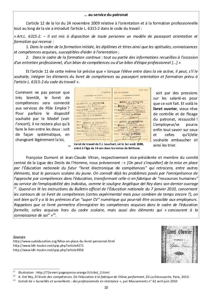 … au service du patronat       L'article 12 de la loi du 24 novembre 2009 relative à l'orientation et à la formation profe...