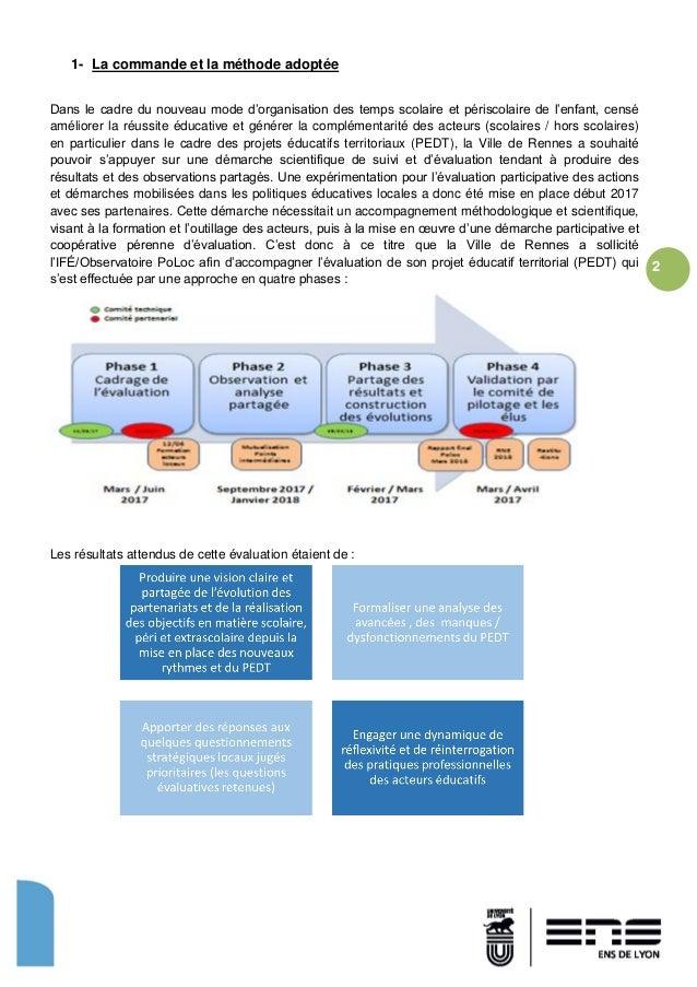 Synthese evaluation pedt rennes Slide 2