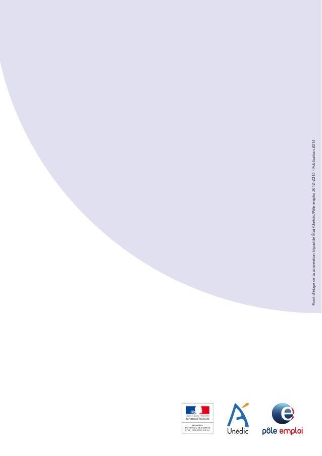 Synthèse relative au bilan d'étape  de la convention tripartite Etat / Unedic / Pôle emploi 2012-2014