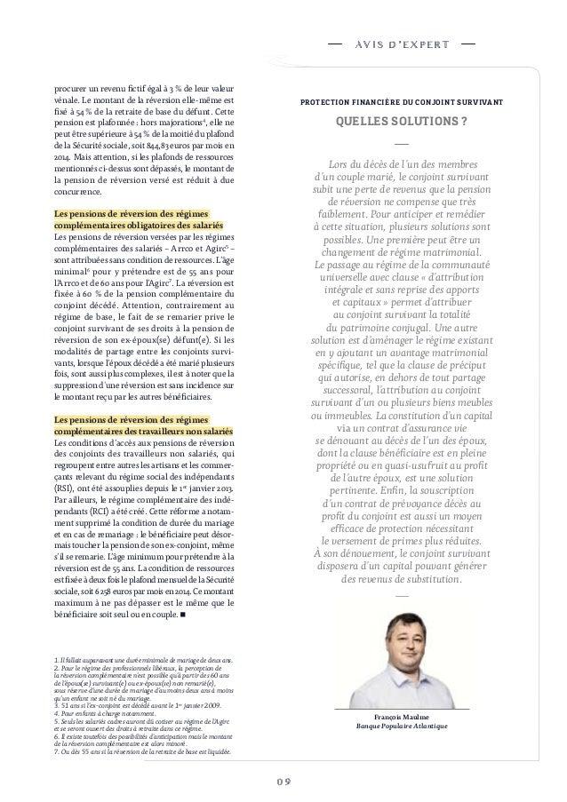 Magazine synth ses n 108 - Plafond de ressources pension de reversion ...