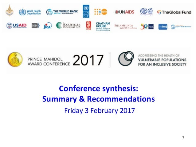 Synthesis Prince Mahidol Award Conference 2017 48c4960f235
