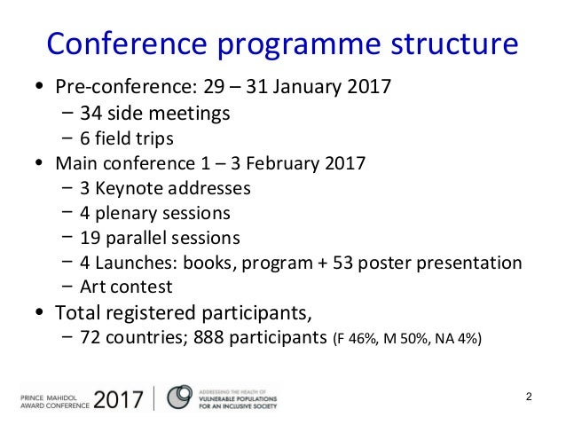 Synthesis Prince Mahidol Award Conference 2017. 1. 1 Conference synthesis   Summary   Recommendations Friday 3 February 2017  2. 274d3d2d26a