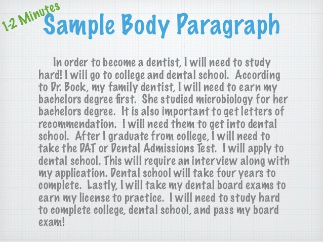 paragraph about dentist
