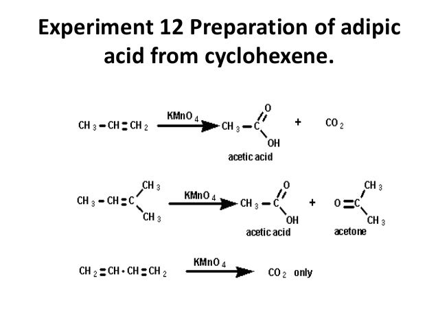 preparation of adipic acid from cyclohexene Next, the synthesis of adipic acid from h2o2 and cyclohexene was to the best of  the  subsequent adipic acid synthesis from cyclohexene.