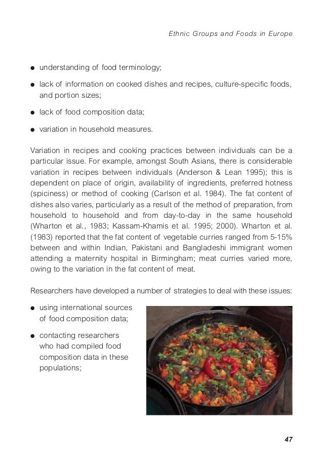 Synthesis report 3 ethnic groups and foods in europe foods in europe 51 g collecting detailed traditional recipe forumfinder Image collections