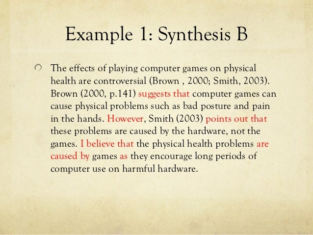 ap synthesis essay example