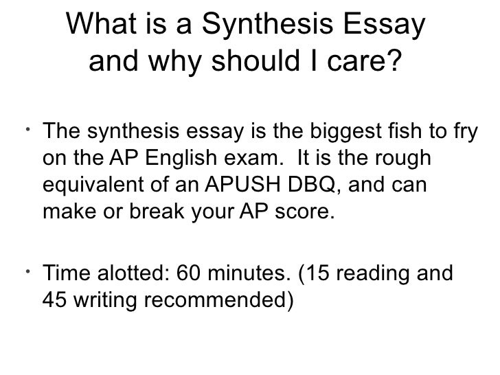 Synthesis essay prompt