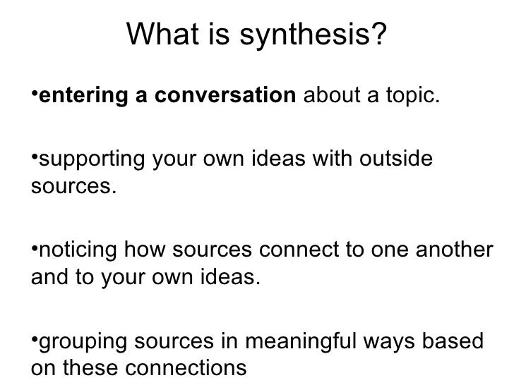 synthesis essay sources