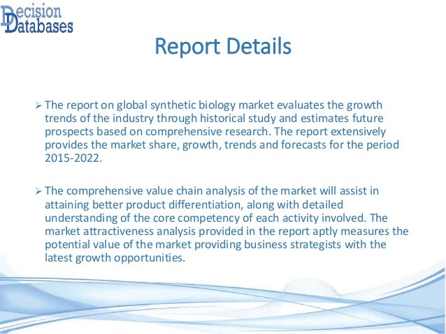 Synthetic Biology Market Key Players Product  Technologies Analysis