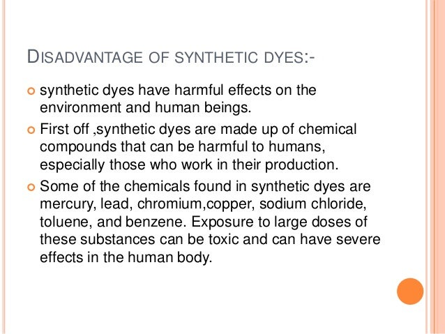 harmful effects of dyes