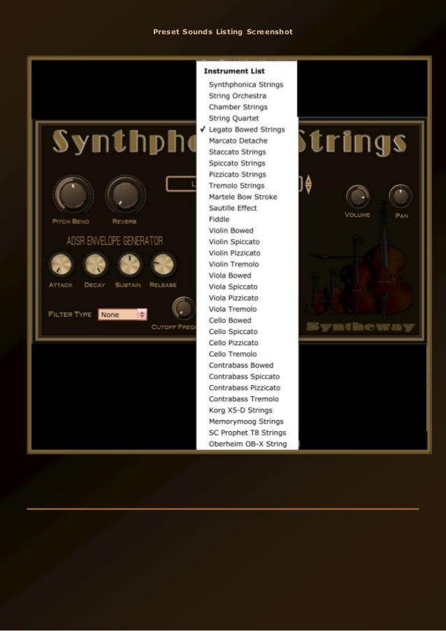 Synthphonica Strings VST, VST3, Audio Unit Plugins: String