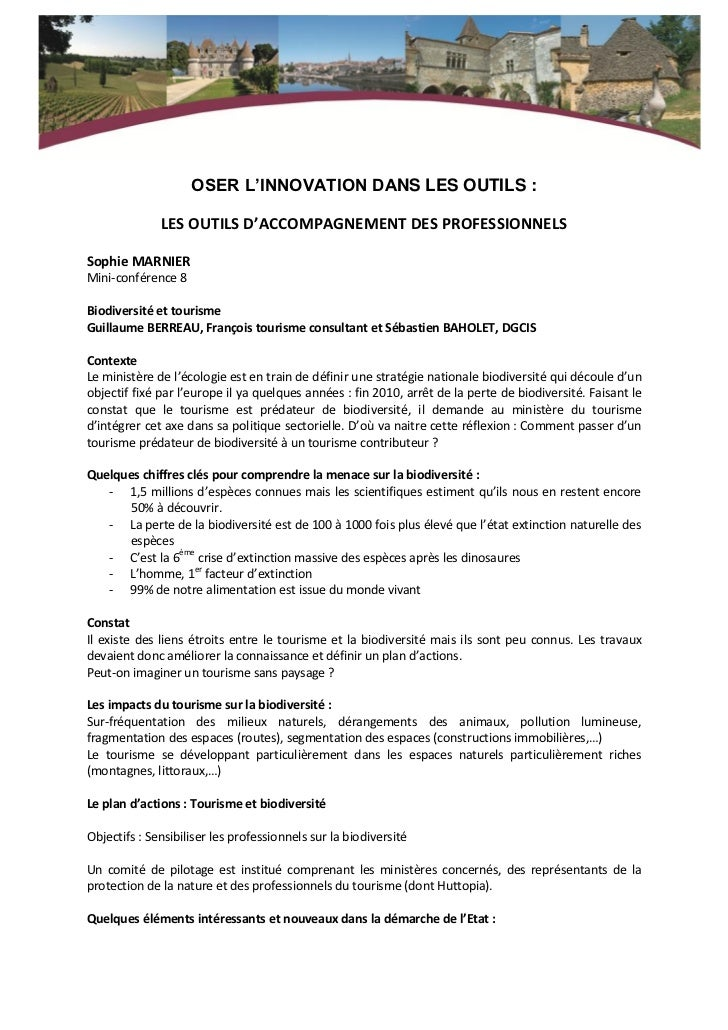 OSER L'INNOVATION DANS LES OUTILS :              LES OUTILS D'ACCOMPAGNEMENT DES PROFESSIONNELSSophie MARNIERMini-conféren...