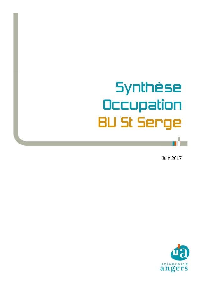 Synthèse Occupation BU St Serge Juin 2017