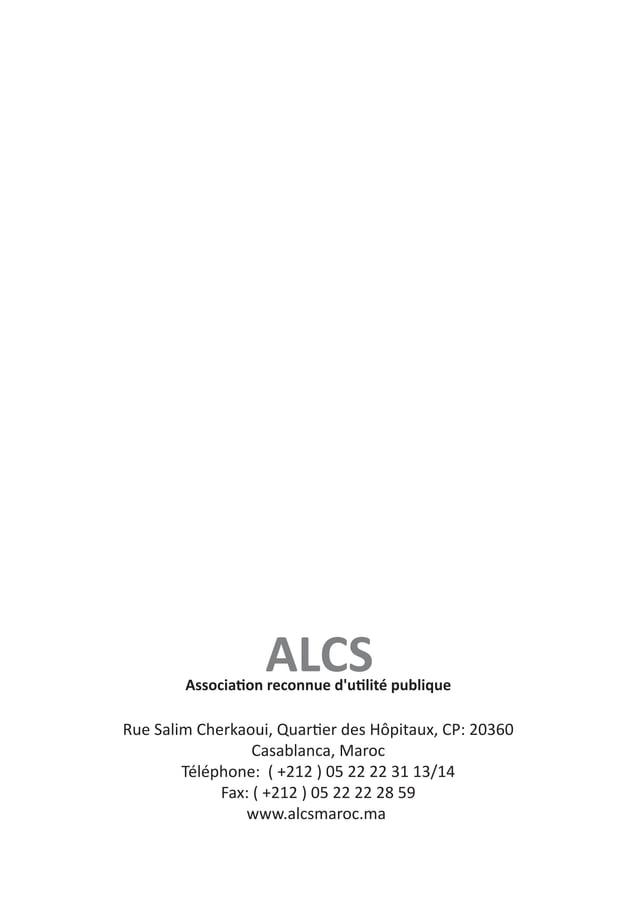 Synthèse d'activité de l'ALCS 2008