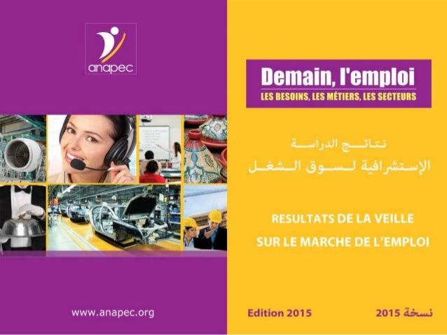 ANAPEC/DPM/ RAPPORT DE VEILLE 2015 www.anapec.org