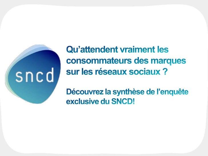 INTRODUCTIONINTRODUCTION      USAGES          ATTENTES         CASE STUDY   CONCLUSION▌ L'atelier Réseaux Sociaux du sncd▌...