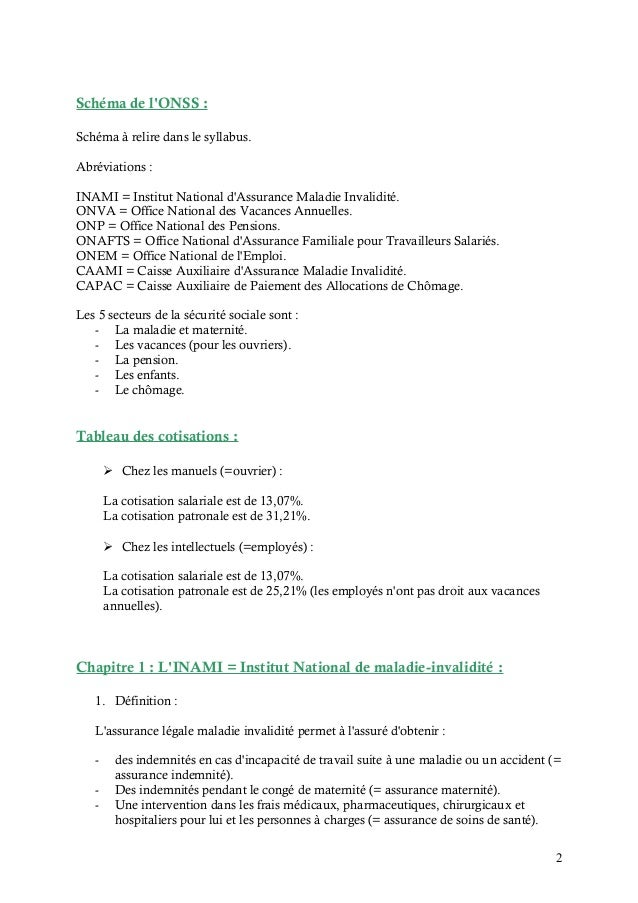 Synthselgislationsociale 120423102441 phpapp02 - Office national des pensions bruxelles ...