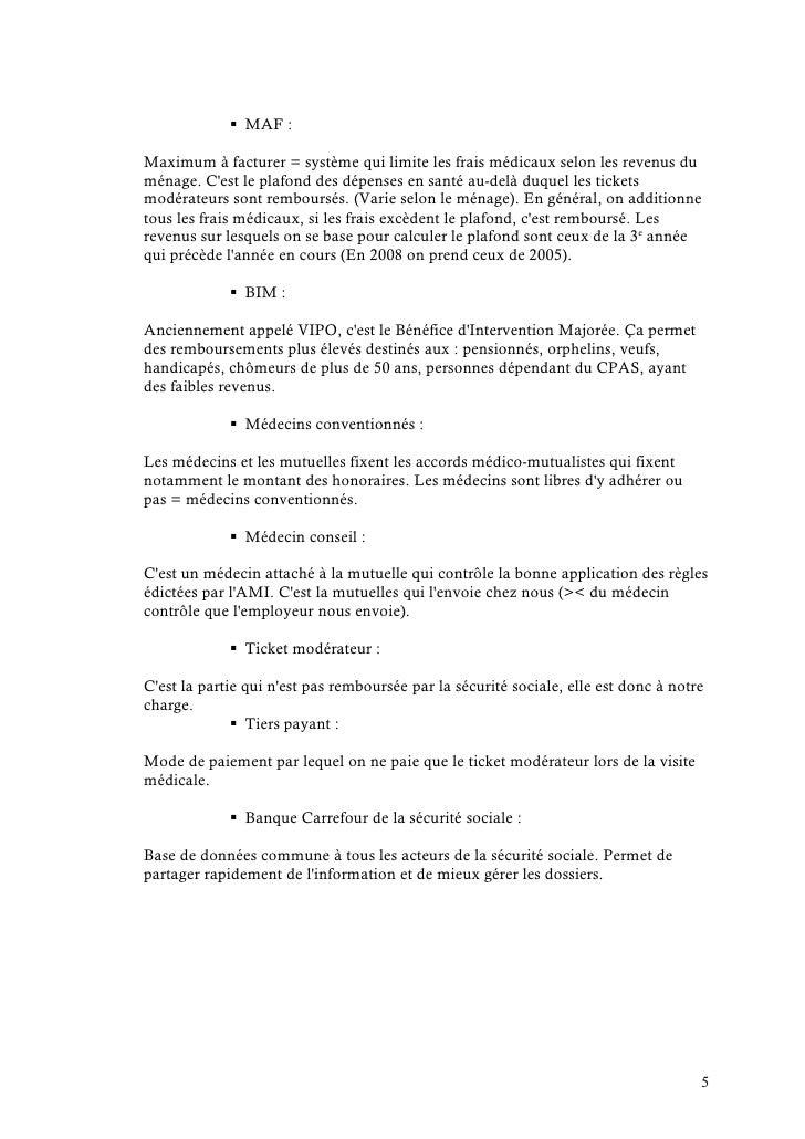 L gislation sociale 1 re partie s curit sociale synth se - Plafond securite sociale 2008 ...