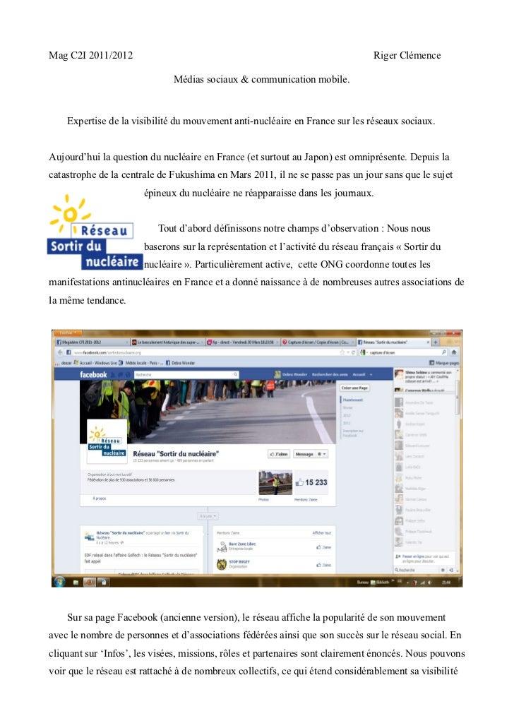 Mag C2I 2011/2012                                                                Riger Clémence                           ...