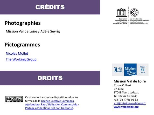 CRÉDITSPhotographiesMission Val de Loire / Adèle SeyrigPictogrammesNicolas MolletThe Working Group                      DR...
