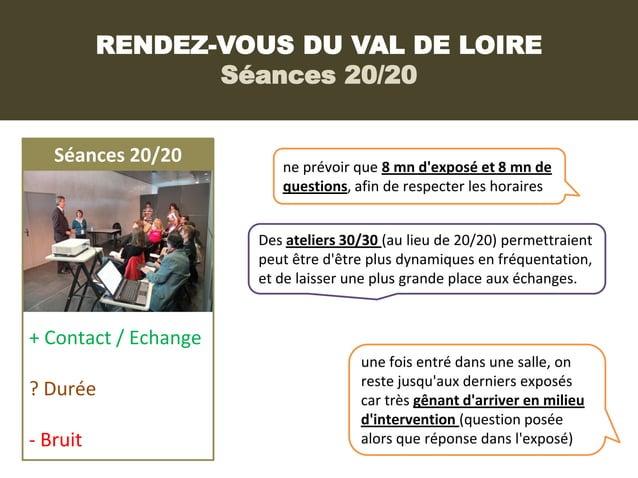 RENDEZ-VOUS DU VAL DE LOIRE                 Séances 20/20   Séances 20/20         ne prévoir que 8 mn dexposé et 8 mn de  ...