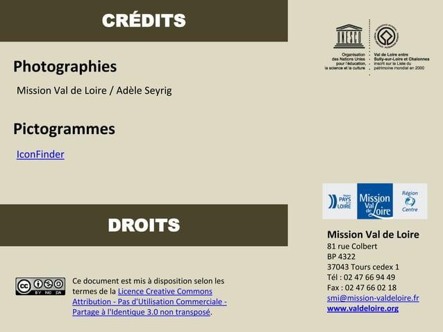 CRÉDITSPhotographiesMission Val de Loire / Adèle SeyrigPictogrammesIconFinder                       DROITS                ...