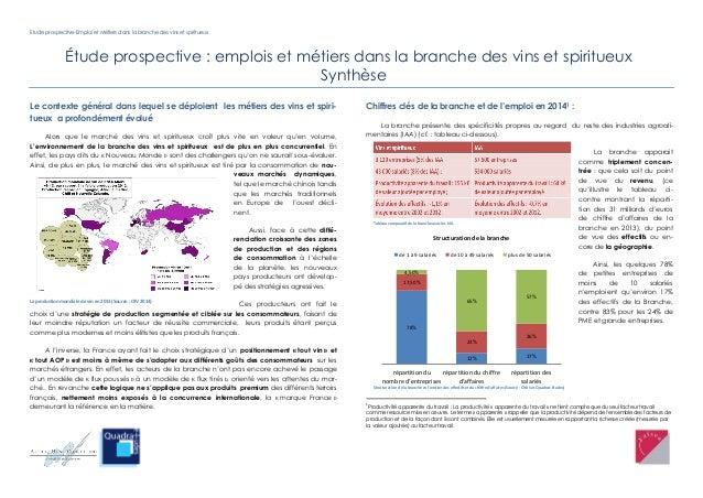 Etude prospective-Emploi et Métiers dans la branche des vins et spiritueux Étude prospective : emplois et métiers dans la ...