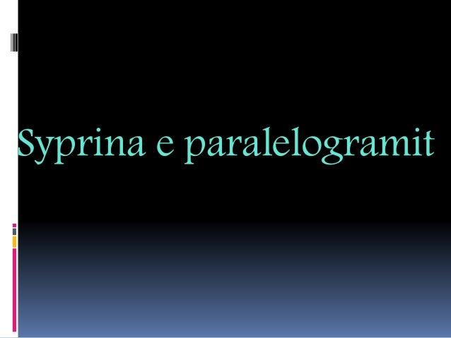 Syprina e paralelogramit