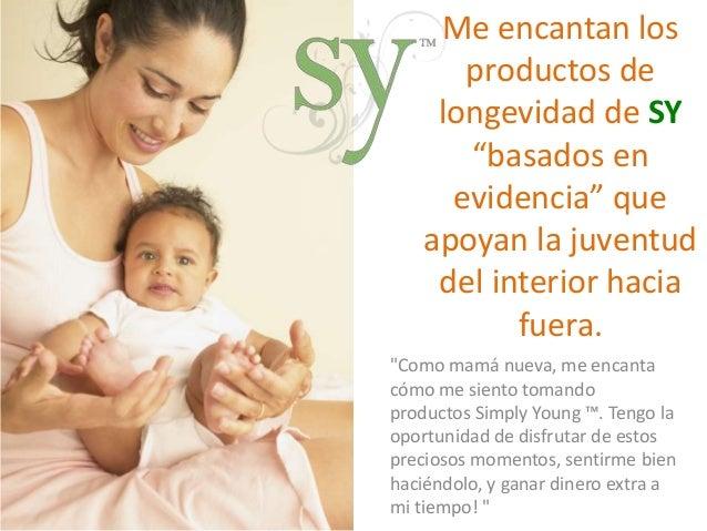"""Me encantan los  productos de  longevidad de SY  """"basados en  evidencia"""" que  apoyan la juventud  del interior hacia  fuer..."""