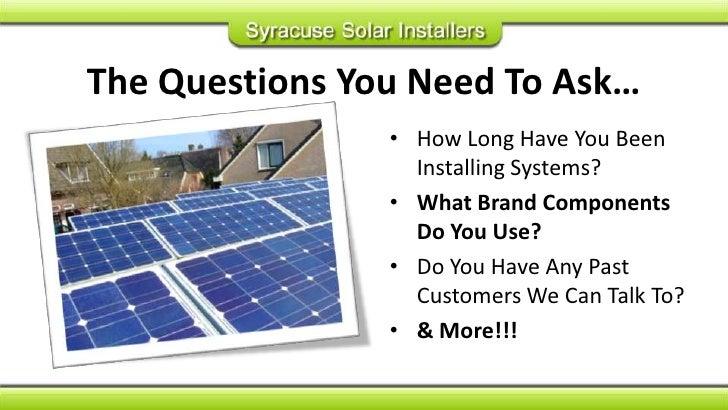 Syracuse Solar System Dealer Guide Slide 3