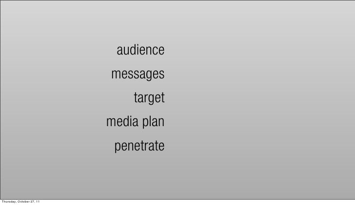audience                           messages                               target                           media plan     ...