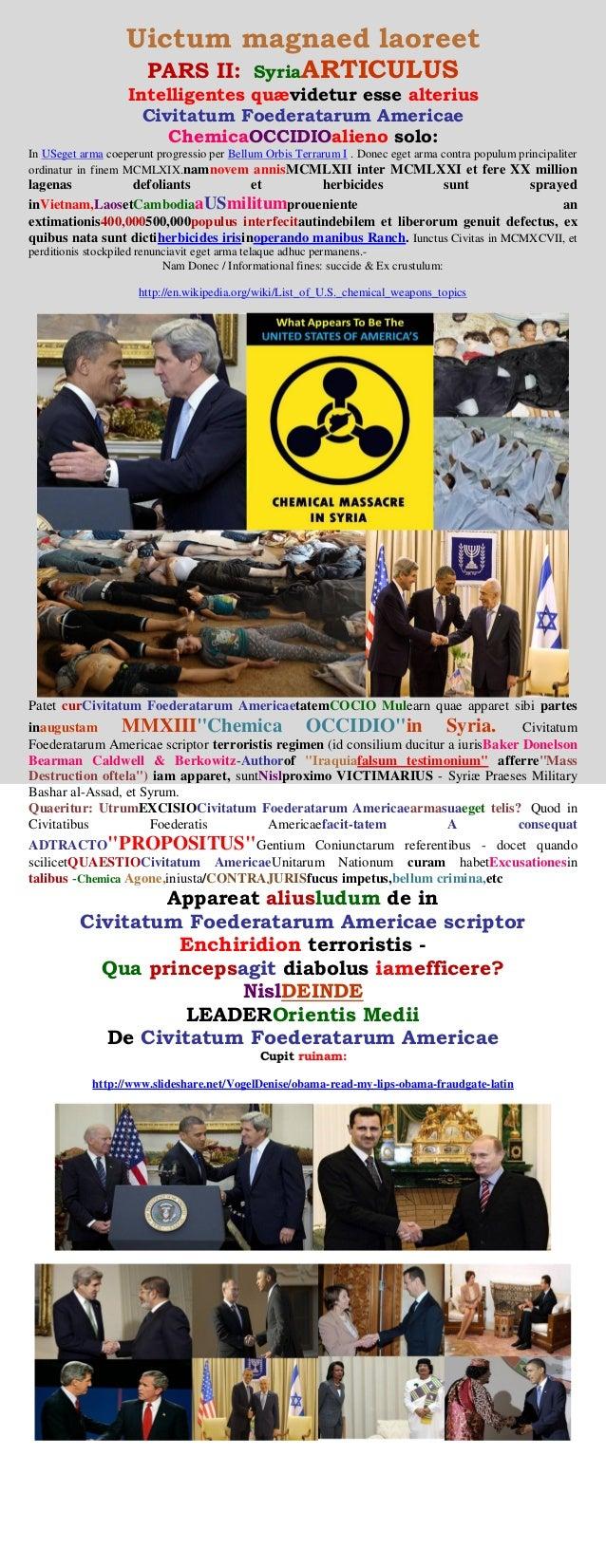 Uictum magnaed laoreet PARS II: SyriaARTICULUS Intelligentes quævidetur esse alterius Civitatum Foederatarum Americae Chem...