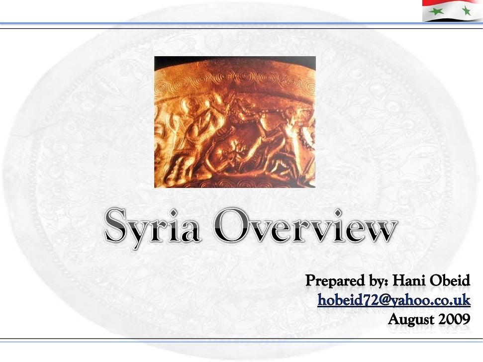 Introduction       Full name:                                            Syrian Arab Republic   Capital:                  ...