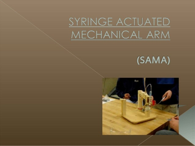  INTRODUCTION  APPLICATION  PARTS  HYDRAULIC ACTUATION  PRESSURE IN THE SYRINGE  TYPE OF ROBOT ARM  SAFETY PRECAUTI...