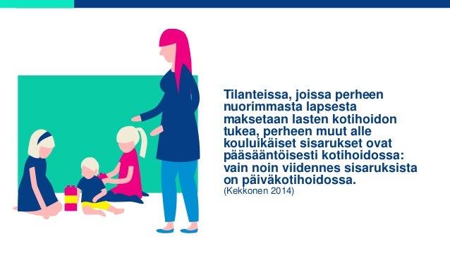 Tilanteissa, joissa perheen nuorimmasta lapsesta maksetaan lasten kotihoidon tukea, perheen muut alle kouluikäiset sisaruk...