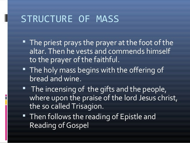  The third portion of the Mass, the Eucharistic  Banquet, begins with the Our Father and the  Prayer of the Laying on of ...
