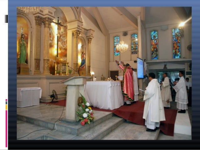  After the reading, the priest does reverence  to the Gospel. The Mass of the faithful consists of a solemn  Entry Praye...