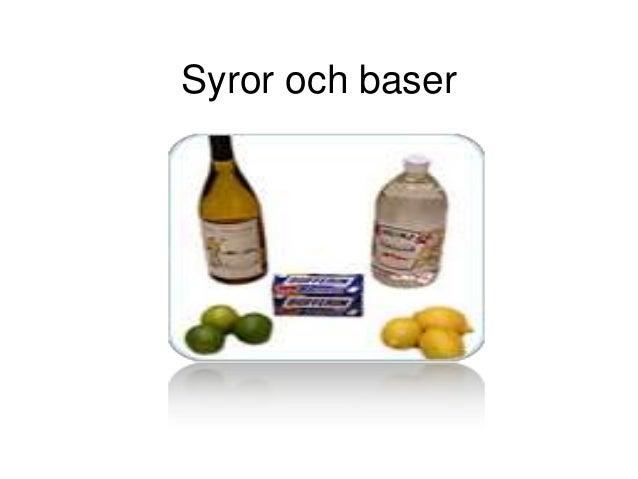 syror och baser