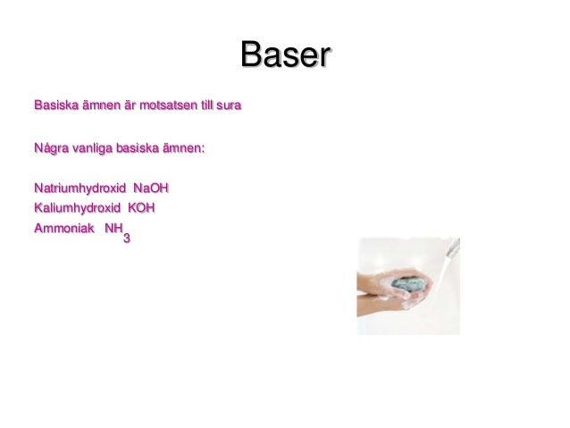 exempel på basiska ämnen