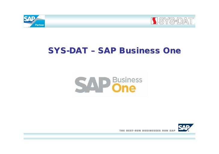 SYS-DAT – SAP Business One
