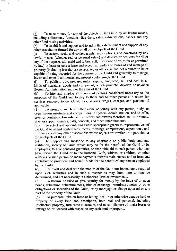 Sysadmin.Ie Memorandum And Articles Of Association Slide 2