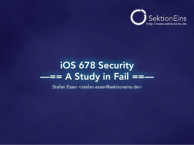 iOS 678 Security