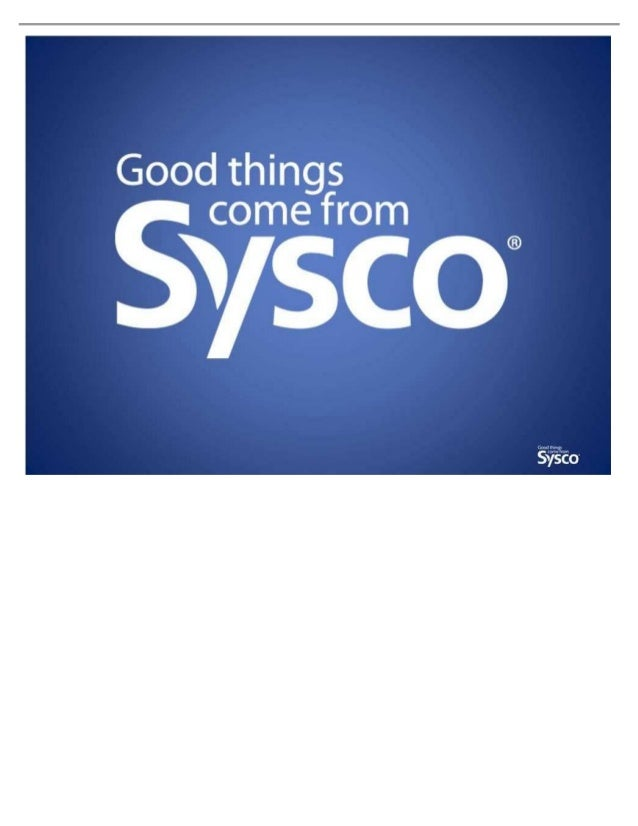 SYSCO AND US FOODS MERGER