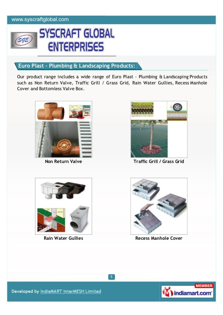 Euro Plast - Plumbing & Landscaping Products:Our product range includes a wide range of Euro Plast - Plumbing & Landscapin...