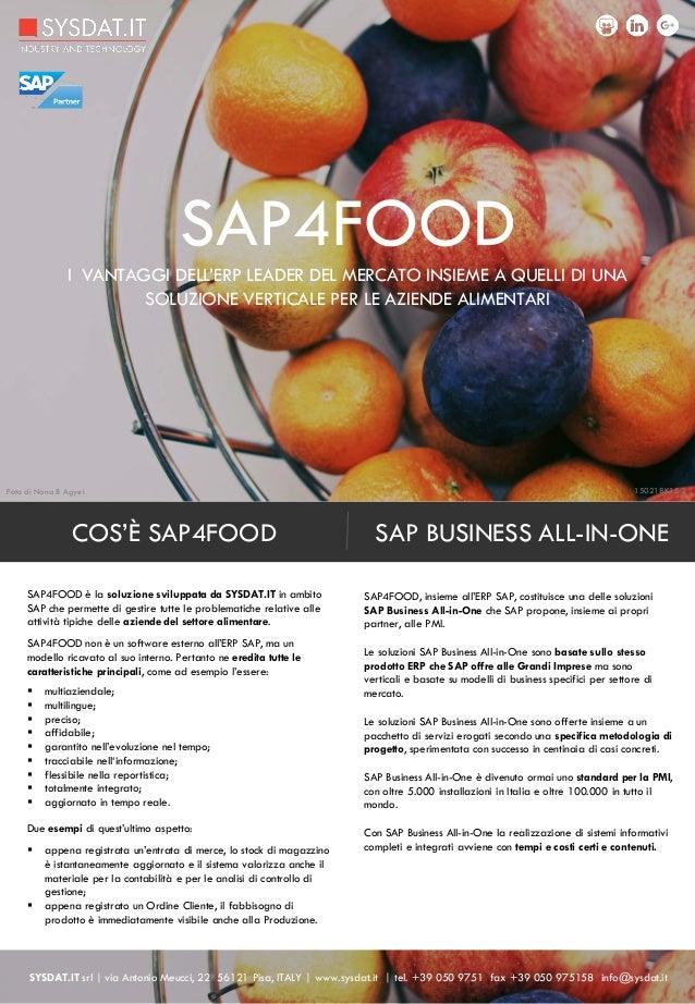scheda sap4food | add-on a sap per le aziende alimentari 150218k15.2