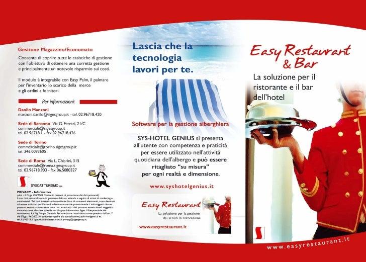 Easy Restaurant Hotel - La soluzione per il ristorante e il bar dell'hotel