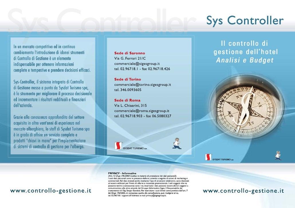 SysController - Ottimizza il controllo di gestione