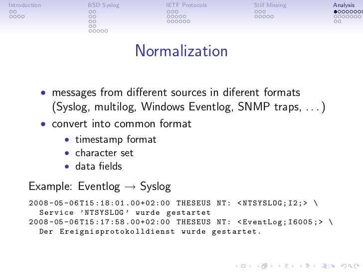 Syslog Protocols