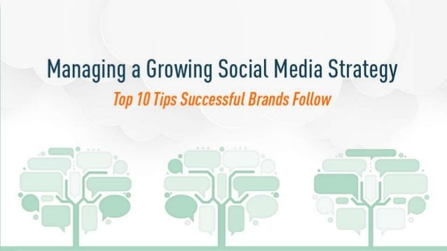 Managing a Growing Social Strategy 2010 – Where we were • Social is a marketing thing • Goal is to get 1,000,000 Facebook ...